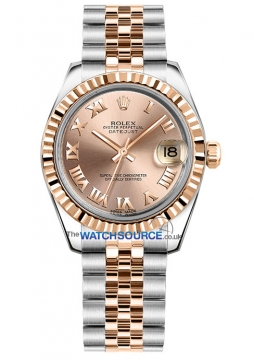 Rolex Datejust 31mm Stainless Steel and Rose Gold 178271 Pink Roman Jubilee watch