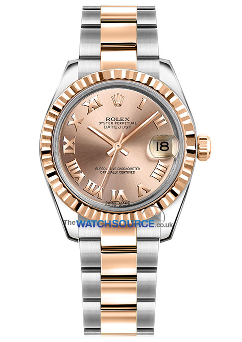 1e231214207 Datejust 31mm Stainless Steel and Rose Gold. Model #: 178271 Pink Roman  Oyster. Ladies Watch | Automatic Movement