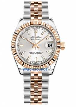 Rolex Datejust 31mm Stainless Steel and Rose Gold 178271 Silver Index Jubilee watch