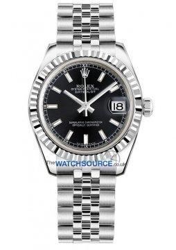 Rolex Datejust 31mm Stainless Steel 178274 Black Index Jubilee watch