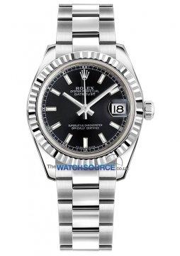 Rolex Datejust 31mm Stainless Steel 178274 Black Index Oyster watch