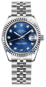 Rolex Datejust 31mm Stainless Steel 178274 Blue Diamond Jubilee watch