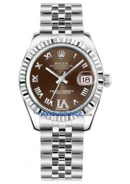 Rolex Datejust 31mm Stainless Steel 178274 Bronze VI Roman Jubilee watch