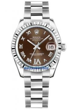 Rolex Datejust 31mm Stainless Steel 178274 Bronze VI Roman Oyster watch