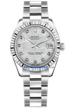 Rolex Datejust 31mm Stainless Steel 178274 Meteorite Diamond Oyster watch