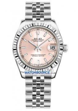 Rolex Datejust 31mm Stainless Steel 178274 Pink Index Jubilee watch