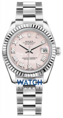 Rolex Datejust 31mm Stainless Steel 178274 Pink MOP Roman Oyster watch