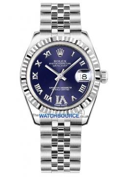 Rolex Datejust 31mm Stainless Steel 178274 Purple VI Roman Jubilee watch