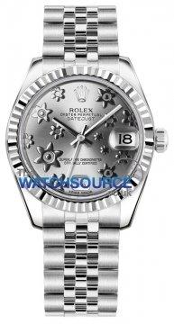 Rolex Datejust 31mm Stainless Steel 178274 Rhodium Floral Jubilee watch
