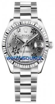 Rolex Datejust 31mm Stainless Steel 178274 Rhodium Floral Oyster watch