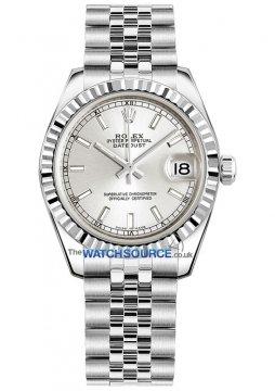 Rolex Datejust 31mm Stainless Steel 178274 Silver Index Jubilee watch