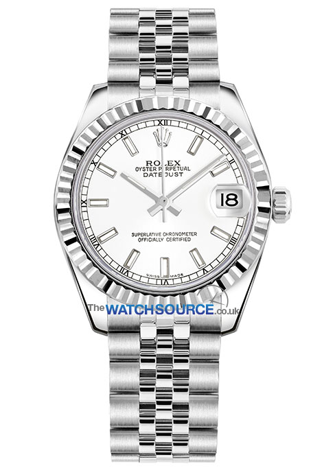 Rolex Datejust 31mm Stainless Steel 178274 White Index Jubilee