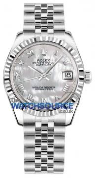 Rolex Datejust 31mm Stainless Steel 178274 White MOP Roman Jubilee watch