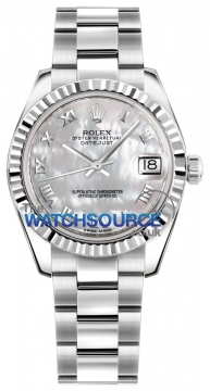 Rolex Datejust 31mm Stainless Steel 178274 White MOP Roman Oyster watch