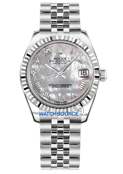 Rolex Datejust 31mm Stainless Steel 178274 White Mop Vi Roman Jubilee