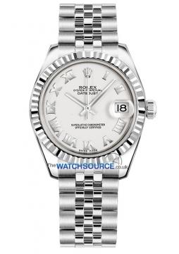Rolex Datejust 31mm Stainless Steel 178274 White Roman Jubilee watch