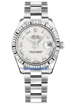 Rolex Datejust 31mm Stainless Steel 178274 White Roman Oyster watch