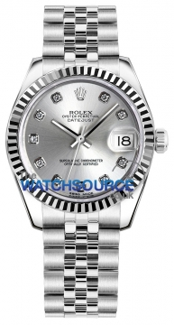 Rolex Datejust 31mm Stainless Steel 178274 Silver Diamond Jubilee watch