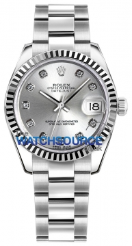 Rolex Datejust 31mm Stainless Steel 178274 Silver Diamond Oyster watch