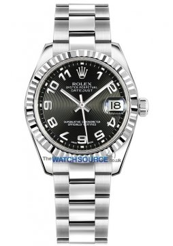 Rolex Datejust 31mm Stainless Steel 178274 Black Concentric Arabic Oyster watch