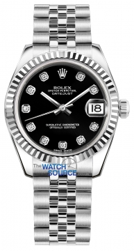 Rolex Datejust 31mm Stainless Steel 178274 Black Diamond Jubilee watch