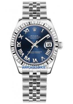 Rolex Datejust 31mm Stainless Steel 178274 Blue Roman Jubilee watch