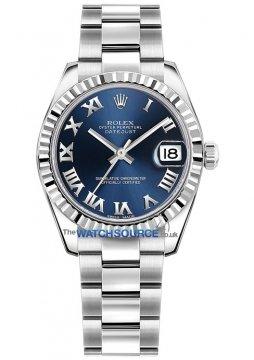 Rolex Datejust 31mm Stainless Steel 178274 Blue Roman Oyster watch