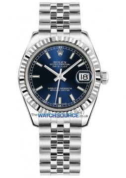 Rolex Datejust 31mm Stainless Steel 178274 Blue Index Jubilee watch