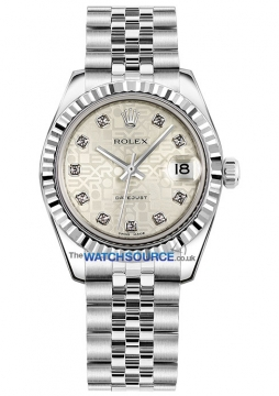 Rolex Datejust 31mm Stainless Steel 178274 Jubilee Silver Diamond Jubilee watch