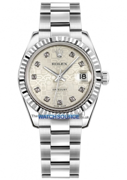 Rolex Datejust 31mm Stainless Steel 178274 Jubilee Silver Diamond Oyster watch