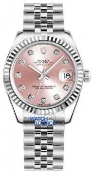 Rolex Datejust 31mm Stainless Steel 178274 Pink Diamond Jubilee watch