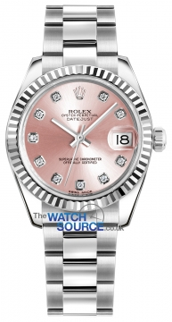 Rolex Datejust 31mm Stainless Steel 178274 Pink Diamond Oyster watch
