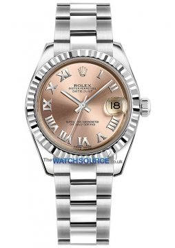 Rolex Datejust 31mm Stainless Steel 178274 Pink Roman Oyster watch