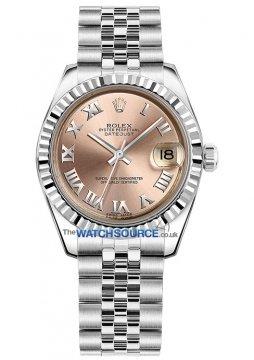 Rolex Datejust 31mm Stainless Steel 178274 Pink Roman Jubilee watch