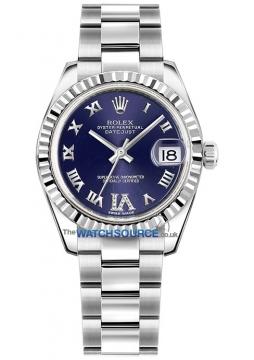 Rolex Datejust 31mm Stainless Steel 178274 Purple VI Roman Oyster watch