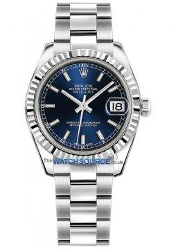 Rolex Datejust 31mm Stainless Steel 178274 Blue Index Oyster watch