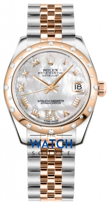 Rolex Datejust 31mm Stainless Steel and Rose Gold 178341 White MOP VI Roman Jubilee watch