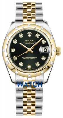 Rolex Datejust 31mm Stainless Steel and Yellow Gold 178343 Black Diamond Jubilee watch