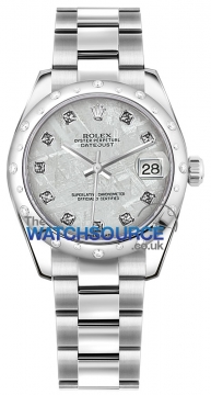 Rolex Datejust 31mm Stainless Steel 178344 Meteorite Diamond Oyster watch