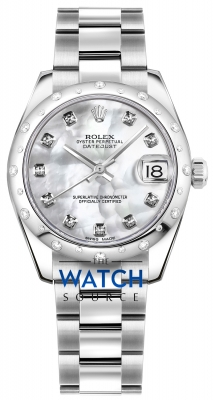 Rolex Datejust 31mm Stainless Steel 178344 White MOP Diamond Oyster watch