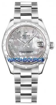 Rolex Datejust 31mm Stainless Steel 178344 White MOP VI Roman Oyster watch