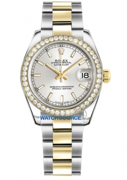 Rolex Datejust 31mm Stainless Steel and Yellow Gold 178383 Silver Index Oyster watch