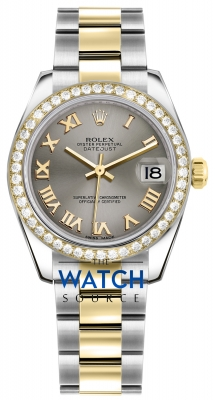 Rolex Datejust 31mm Stainless Steel and Yellow Gold 178383 Steel Roman Oyster watch
