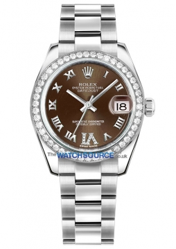 Rolex Datejust 31mm Stainless Steel 178384 Bronze VI Roman Oyster watch