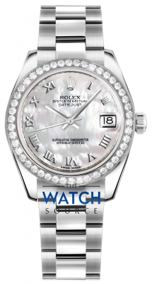 Rolex Datejust 31mm Stainless Steel 178384 White MOP Roman Oyster watch