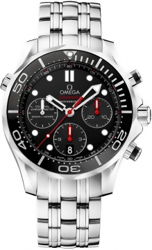 Buy this new Omega Seamaster 300m Diver Co-Axial Chronograph 44mm 212.30.44.50.01.001 mens watch for the discount price of £3,600.00. UK Retailer.