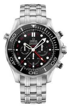 Buy this new Omega Seamaster Diver 300m Co-Axial GMT Chronograph 44mm 212.30.44.52.01.001 mens watch for the discount price of £4,012.00. UK Retailer.