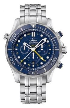 Omega Seamaster Diver 300m Co-Axial GMT Chronograph 44mm Mens watch, model number - 212.30.44.52.03.001, discount price of £3,805.00 from The Watch Source