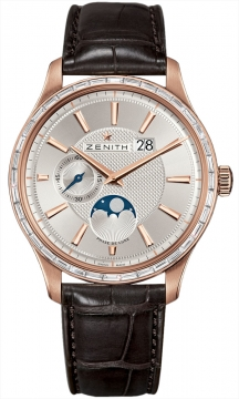 Zenith Captain Moonphase Mens watch, model number - 22.2141.691/01.c498, discount price of £19,940.00 from The Watch Source
