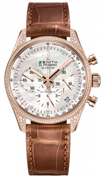 Zenith El Primero 36'000 VpH Lady Ladies watch, model number - 22.2151.400/81.c709, discount price of £14,290.00 from The Watch Source